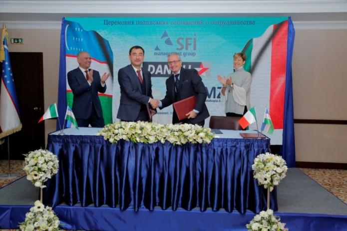 Узметкомбинат и Ташметзавод подписали соглашение о сотрудничестве с Danieli