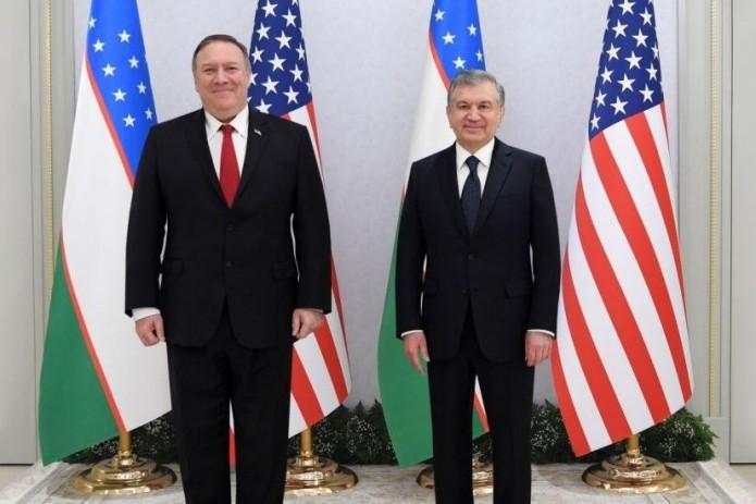 Президент Шавкат Мирзиёев принял Госсекретаря США Майкла Помпео