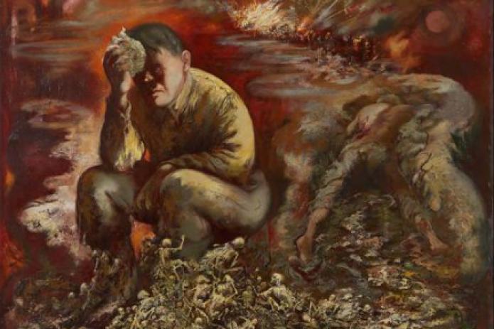 """На всеобщее обозрение будет выставлена картина  Жоржа Гроса """"Гитлер в аду"""""""