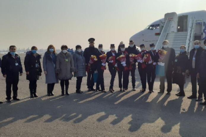 Из Намангана впервые был осуществлен чартерный рейс в Минск