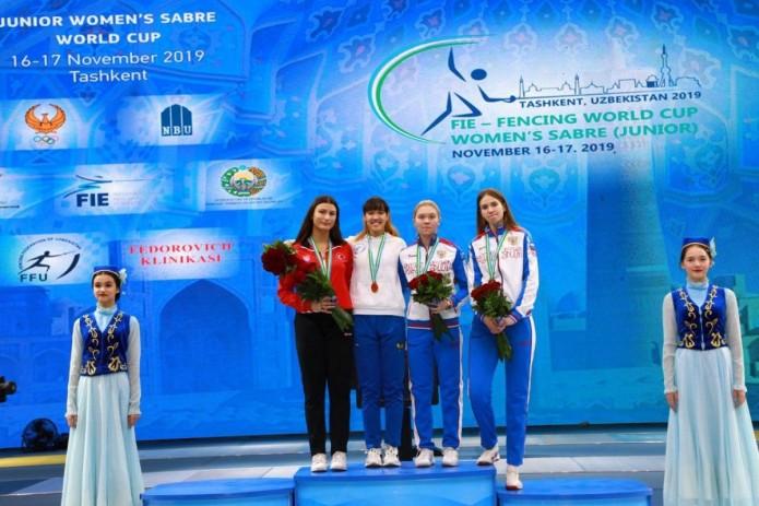 Саблистка Зайнаб Дайибекова завоевала золотую медаль кубка Мира