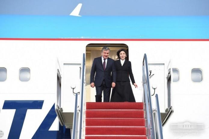 President Shavkat Mirziyoyev arrives in U.S. on an official visit