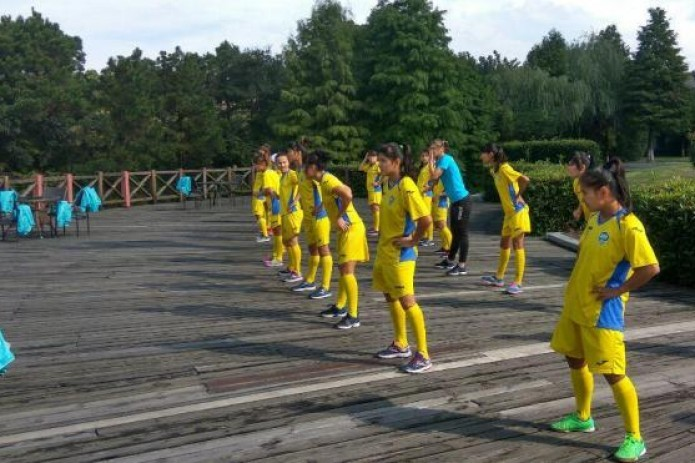 U-19 women's national team holds recovery workout
