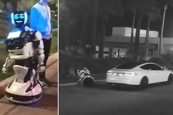 Битва роботов начинается: автономная Тесла насмерть сбила гуманоида