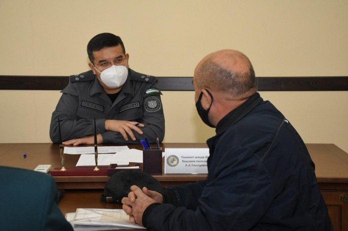 Начальник ГУВД г.Ташкента Азиз Ташпулатов проведет приём граждан