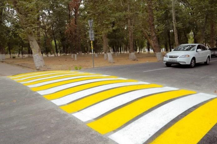 В одном из районов Ташкента установили приподнятый пешеходный переход