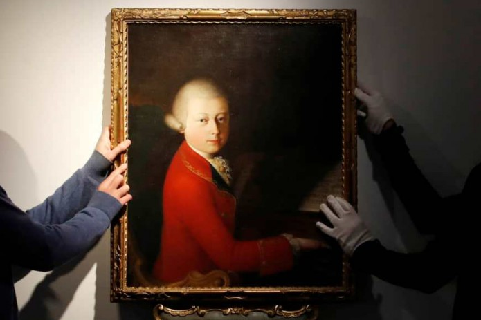 Редчайший портрет молодого Моцарта продали за 4 млн. евро