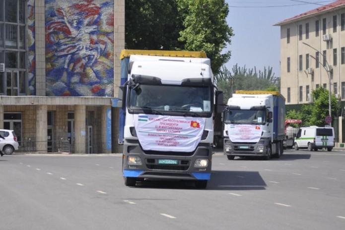 Узбекистан отправил вторую гуманитарную помощь Кыргызстану