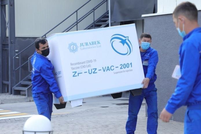 Минздрав получил еще 1,2 млн. доз вакцины ZF-UZ-VAC2001 от Jurabek Laboratories