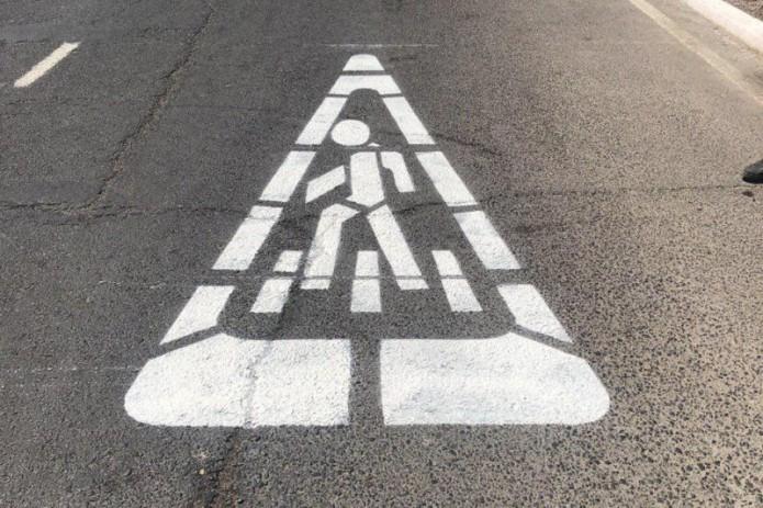 На дорогах Ташкента начали наносить новый тип дорожной разметки