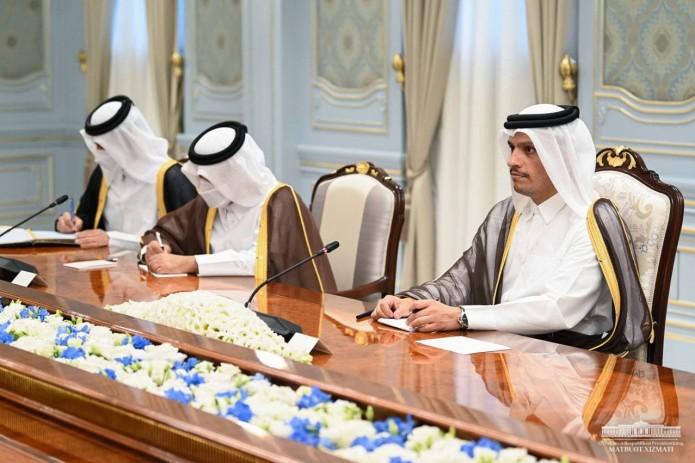 Президент Шавкат Мирзиёев принял министра иностранных дел Катара
