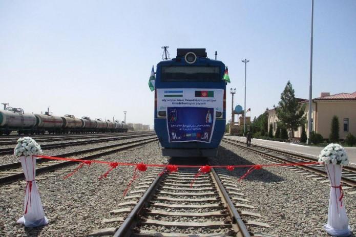 Первый контейнерный поезд из Афганистана в Китай прошел через Узбекистан
