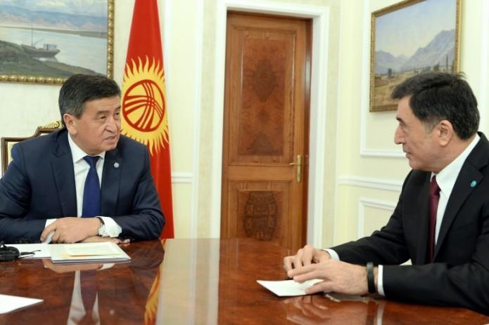 Президент Кыргызстана принял Генерального секретаря ШОС Владимира Норова