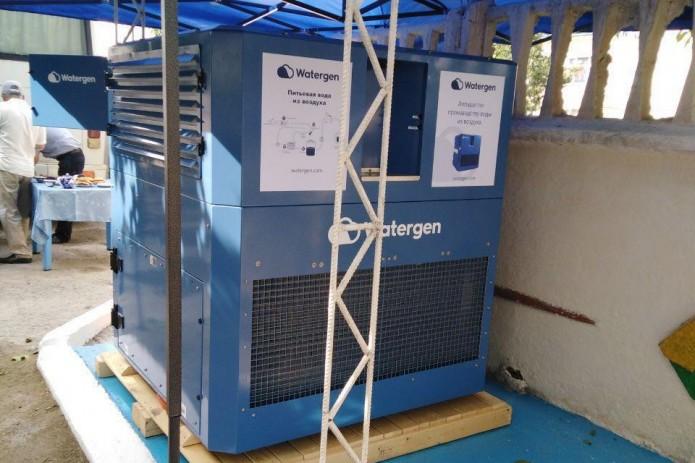В Бухаре установлен атмосферный генератор воды из воздуха