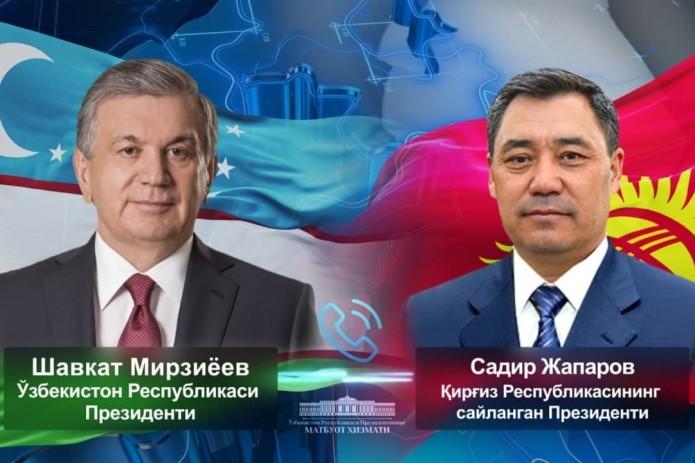 Шавкат Мирзиёев поздравил Садыра Жапарова с победой на выборах президента Кыргызстана