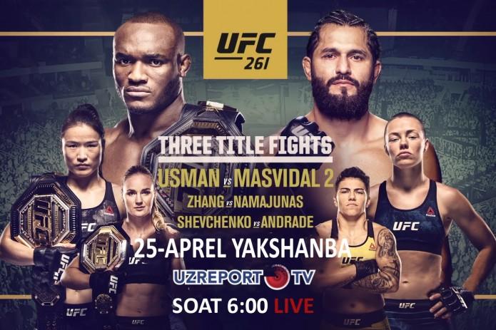 UZREPORT TV приобрел права на трансляцию турнира UFC 261