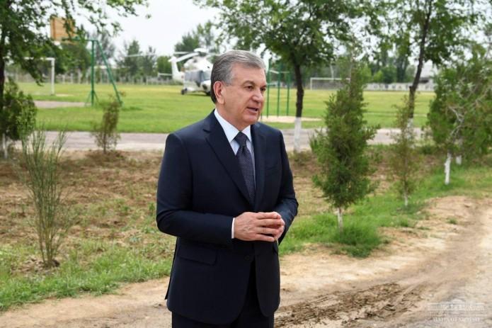 Президент Шавкат Мирзиёев прибыл в Сардобинский район