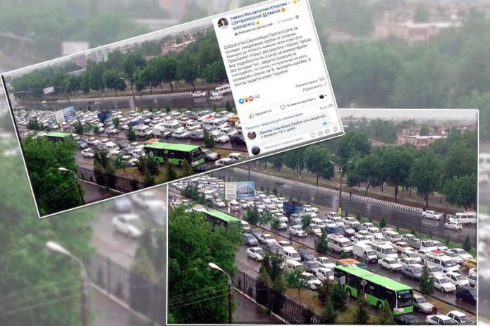 ГУВД: Ситуация на дорогах в Сергелийском районе в скором времени улучшится