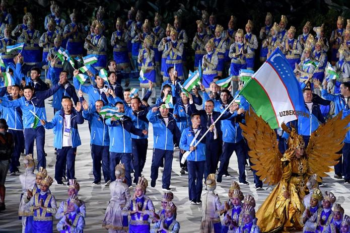 Сборная Узбекистана приняла участие в церемонии открытия Азиатских игр