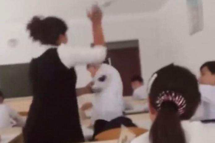 Учительница публично избила школьника. В МНО прокомментировали инцидент (Видео)