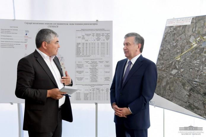 Президент Шавкат Мирзиёев ознакомился с ходом строительных работ в Хавасте