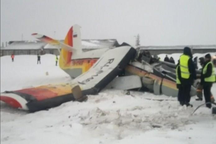 Падение Ан-2 вНарьян-Маре попало навидео