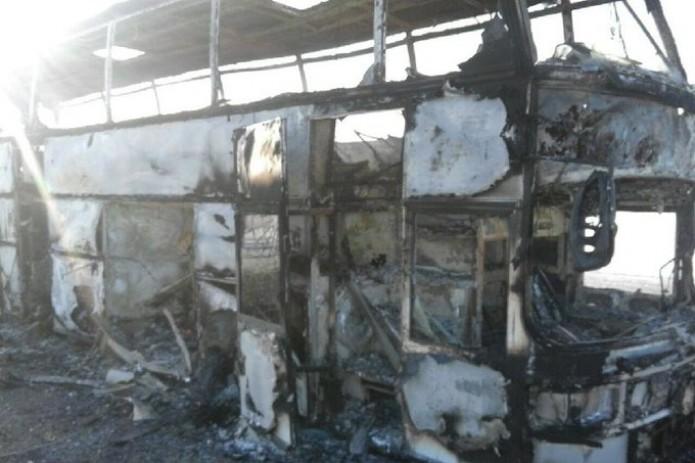 Власти Казахстана назвали возгорание автобуса несчастным случаем