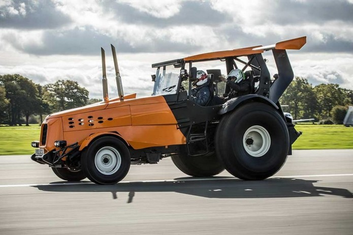 The world's fastest tractor makes for an unusual World Record