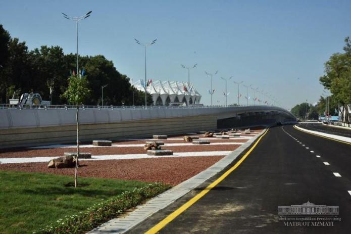На улице Бунёдкор города Ташкента открылся новый мост