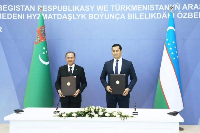 Узбекистан и Туркменистан договорились довести объем товарооборота до $1 млрд