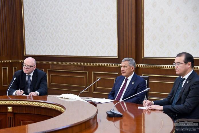 Шавкат Мирзиёев принял Президента Татарстана Рустама Минниханова