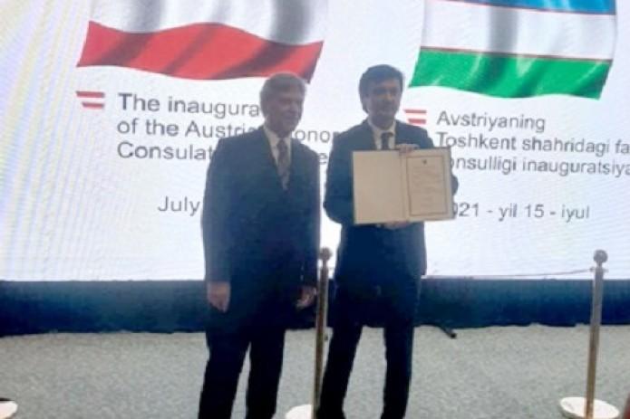 В Ташкенте открылось Почетное консульство Австрии