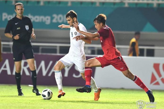 Азиатские игры: Сборная Узбекистана по футболу обыграла Таиланд