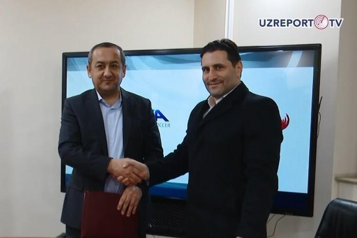 UZREPORT и Racing City Group будут развивать футбол в Узбекистане
