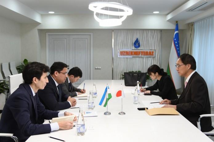 В АО «Узбекнефтегаз» прошли переговы с советником посольства Японии