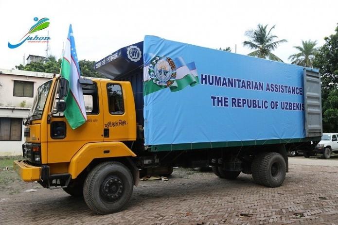 Uzbekistan hands over humanitarian assistance to Myanmar refugees