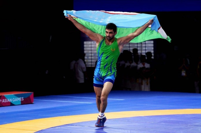 Freestyle wrestlers win second place in team standings at Asian Games