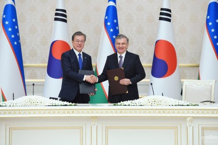 Uzbekistan and South Korea sign $12 billion agreements