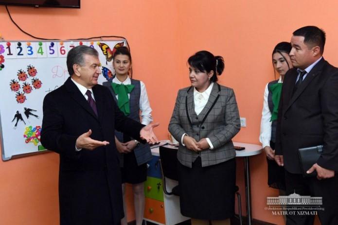 Шавкат Мирзиёев посетил инновационную школу «Нихол»