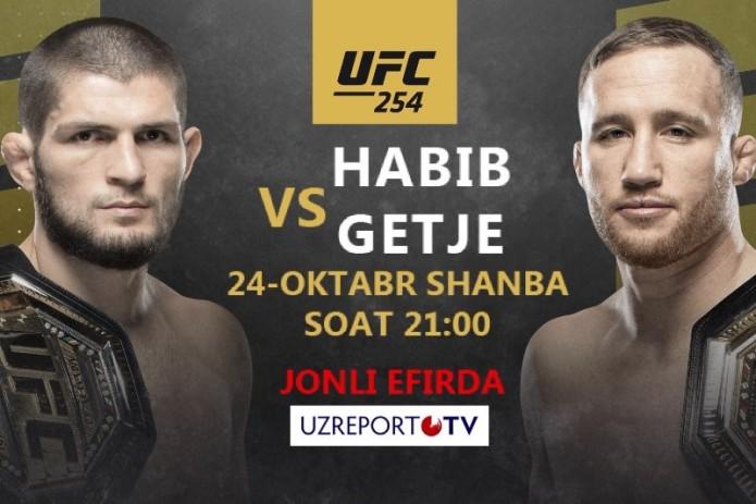 UZREPORT TV UFC 254 musobaqasi translyatsiya huquqini xarid qildi