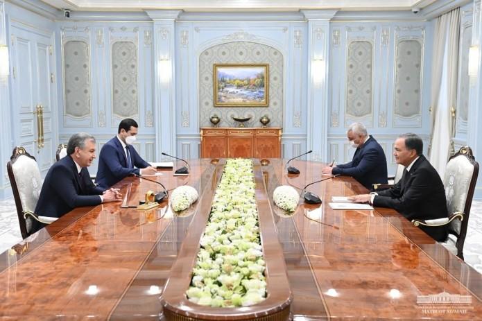 Шавкат Мирзиёев принял заместителя председателя Кабинета Министров Туркменистана