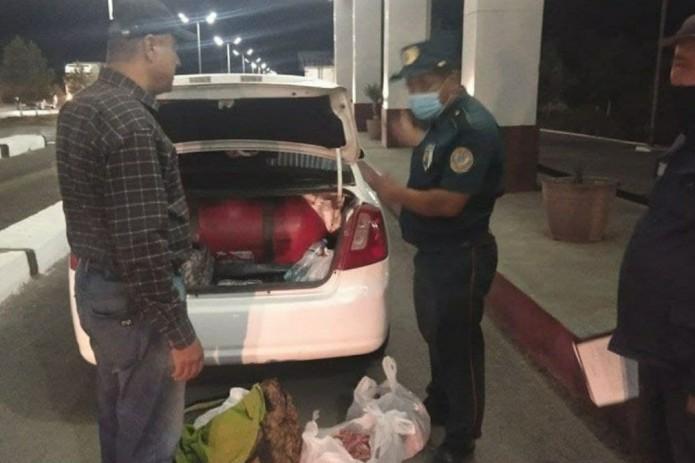 Ночной рейд: автомобилист из Кашкадарьи перевозил в Ташкент 200 кг испорченного мяса