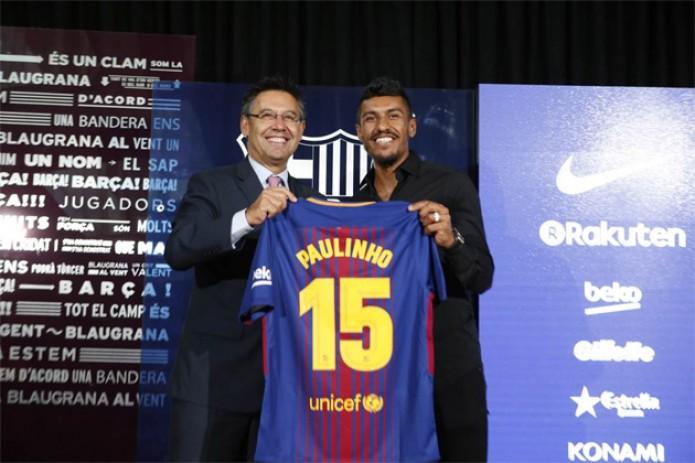 """""""Барселона"""" официально представила Паулиньо в качестве своего игрока"""