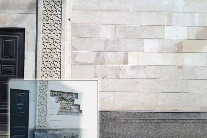 Фасад станции метро «Бекат-2» разрушился. В столичном метро прокомментировали ситуацию