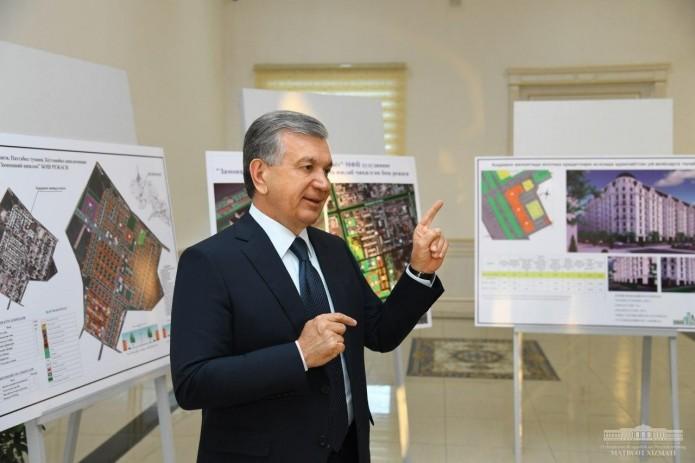 Шавкат Мирзиёев ознакомился с презентацией проекта «Современное село»