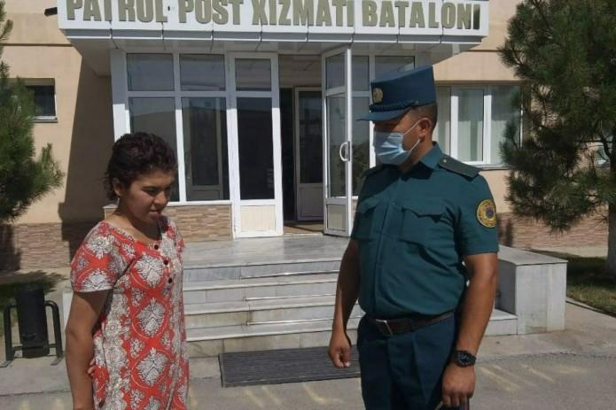 Патрульные Самарканда нашли сбежавшую из дома 15-летнюю девочку из Навои