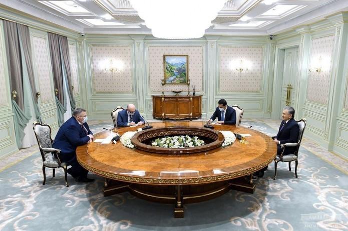 Президент Шавкат Мирзиёев принял зампредседателя правительства РФ Алексея Оверчука