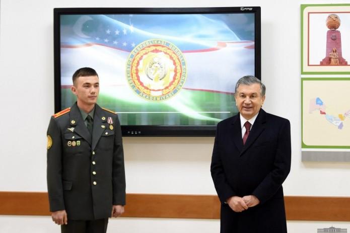 Президент Шавкат Мирзиёев посетил Академию Вооруженных Сил