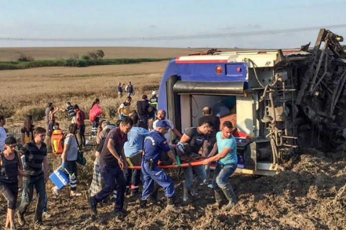 Ten killed as Turkish train derails after heavy rain