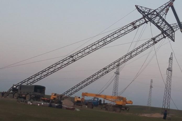 В Сурхандарье восстановлены обрушившиеся опоры ЛЭП